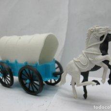 Figuras de Goma y PVC: COCHE CARRETA DE CABALLOS. Lote 63618079