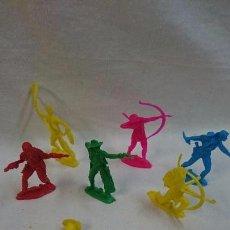 Figuras de Goma y PVC: LOTE DE FIGURAS INDIOS Y VAQUEROS. Lote 63667515