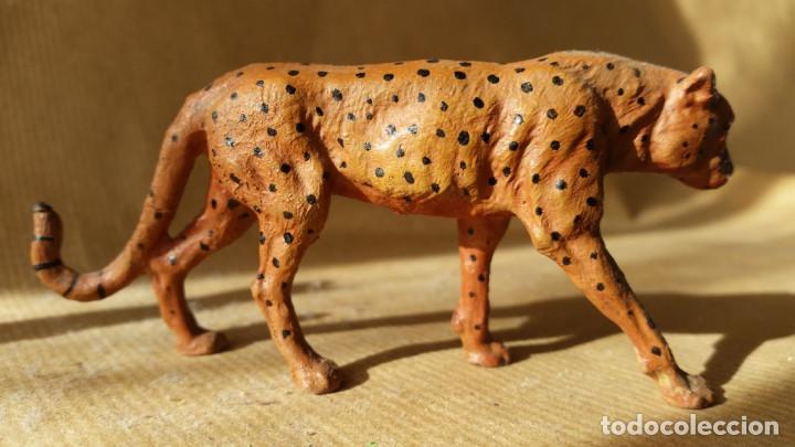 GUEPARDO ELASTOLIN 1930 ZOO ANIMALES SALVAJES PERFECTO PARA SAFARI ARCLA (Juguetes - Figuras de Goma y Pvc - Otras)