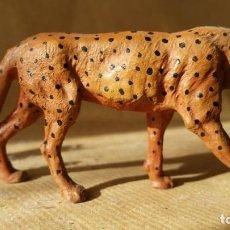 Figuras de Goma y PVC: GUEPARDO ELASTOLIN 1930 ZOO ANIMALES SALVAJES PERFECTO PARA SAFARI ARCLA. Lote 63769915