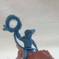 Figuras de Goma y PVC: VAQUERO A CABALLO PIPERO. Lote 63973043