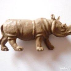 Figuras de Goma y PVC: FIGURA RINOCERONTE PLASTICO AÑOS 60. Lote 64112895