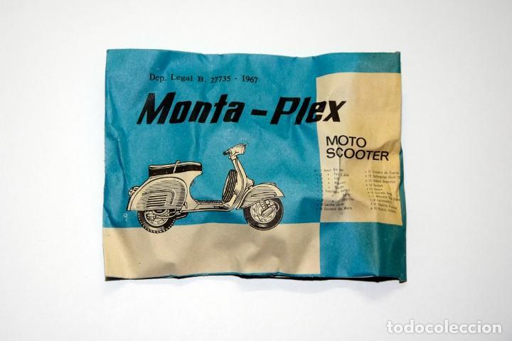 MONTAPLEX - MOTO SCOOTER - VESPA, SOBRE ANTIGUO AÑO 1967 - VER MIS OTROS MONTAPLEX (Juguetes - Figuras de Goma y Pvc - Montaplex)