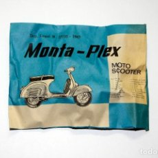 Figuras de Goma y PVC: MONTAPLEX - MOTO SCOOTER - VESPA, SOBRE ANTIGUO AÑO 1967 - VER MIS OTROS MONTAPLEX. Lote 199484140