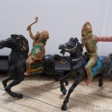 Figuras de Goma y PVC: FIGURAS OESTE INDIO LAFREDO+VAQUERO REYGON A CABALLO ORIGINALES AÑOS 60 + REGALO CABALLO REIGON.PTOY. Lote 31096108