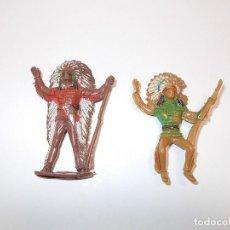 Figuras de Goma y PVC: COMANSI SERIE OESTE AÑOS 70. LOTE DE FIGURAS: 2 JEFES INDIOS. PTOY.. Lote 64541127