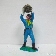 Figuras de Goma y PVC: FIGURA YANKEE COMANSI PRIMERA EPOCA - YANQUI DE COMANSI ANTIGUO SEPTIMO 7 º CABALLERIA. Lote 65417739