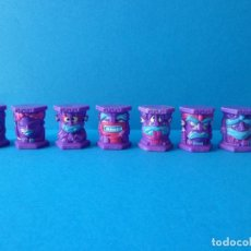 Figuras de Goma y PVC: LOTE ABATONS TOTALLY TOTEMS -TRIBU ULUZU - MORADO - PANINI. Lote 65787886