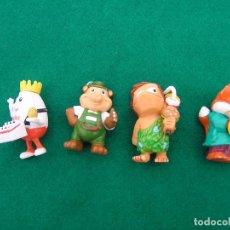 Figuras Kinder: LOTED DE 4 FIGURAS: TROGLODITA, HUEVO, ZORRO Y OSO DE LOS HUEVOS KINDER SORPRESA.. Lote 65844954