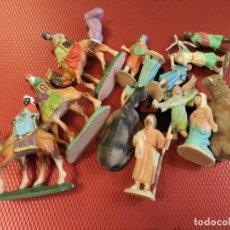 Figuras de Goma y PVC: AÑOS 70 REYES MAGOS + PAJES + PASTORES+ MISTERIO PECH REAMSA JECSAN LAFREDO ? BELEN NACIMIENTO. Lote 65918874