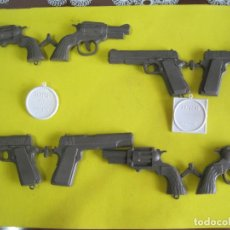 Figuras de Goma y PVC: MONTAPLEX- 2 COLADAS DE DETECTIVES HUTCH + 2 PLACAS. Lote 65992978