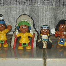 Figuras de Goma y PVC: DIFICIL: JUEGO COMPLETO YAKARI SCHLEICH 1984. Lote 66007521