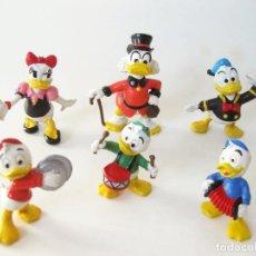 Figuras de Goma y PVC: 6 FIGURAS DE PVC DE LA SERIE DE EURA DEL PATO DONALD - SOBRINOS DAISY Y ABUELO - 1980. Lote 66123530