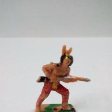 Figuras de Goma y PVC: GUERRERO INDIO . COMANSI . MINI OESTE. Lote 66140850