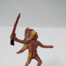 Figuras de Goma y PVC: GUERRERO INDIO . COMANSI . MINI OESTE. Lote 66141866