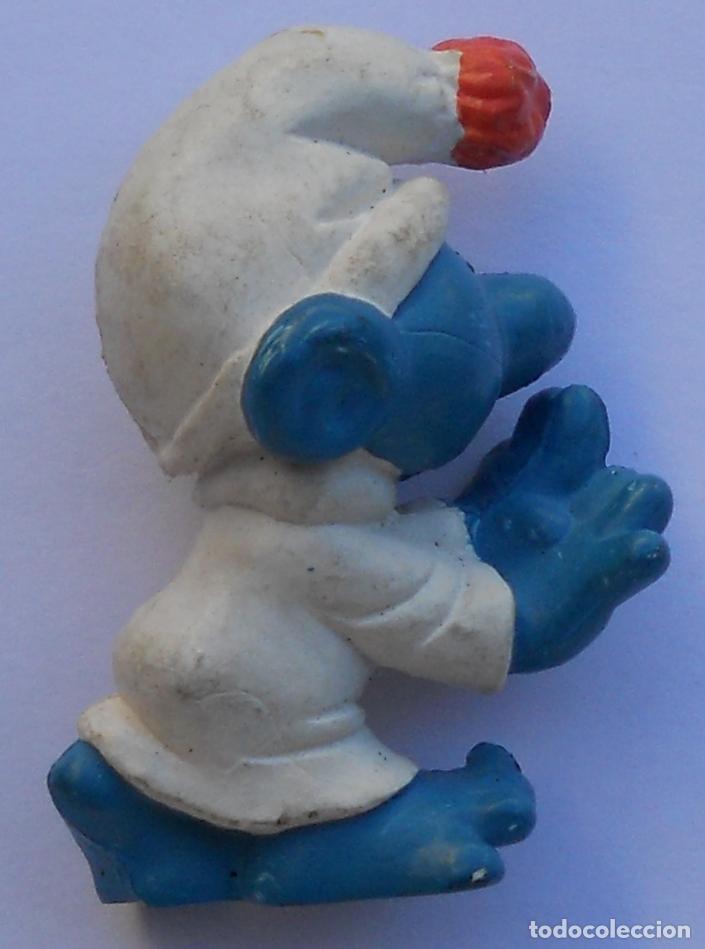 Figuras de Goma y PVC: PITUFO DORMILÓN - SONÁMBULO - PEYO - SMURF - THE SMURFS - SLEEPY - SLEEPWALKER - LAZY - Foto 3 - 66180186