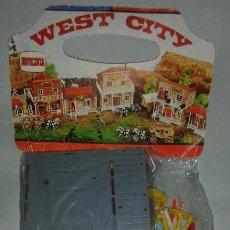 Figuras de Goma y PVC: WEST CITY BANK NORMAN.CO DE NOVOLINEA. Lote 66215670
