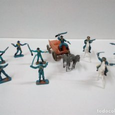 Figuras de Goma y PVC: SOLDADOS FEDERALES Y CARRETA . COMANSI . MINI OESTE. Lote 66769202