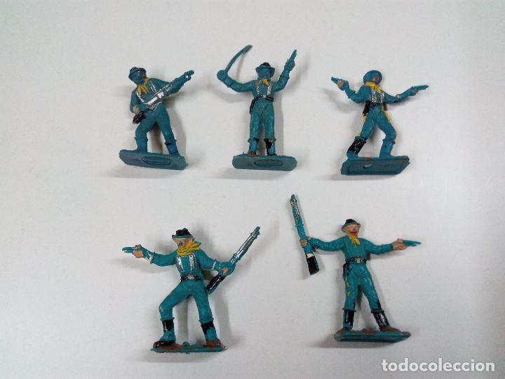 Figuras de Goma y PVC: SOLDADOS FEDERALES Y CARRETA . COMANSI . MINI OESTE - Foto 2 - 66769202