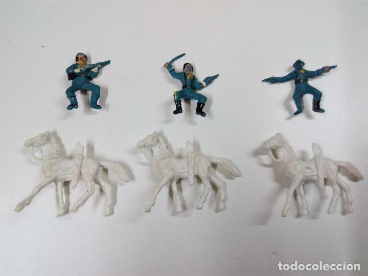Figuras de Goma y PVC: SOLDADOS FEDERALES Y CARRETA . COMANSI . MINI OESTE - Foto 3 - 66769202