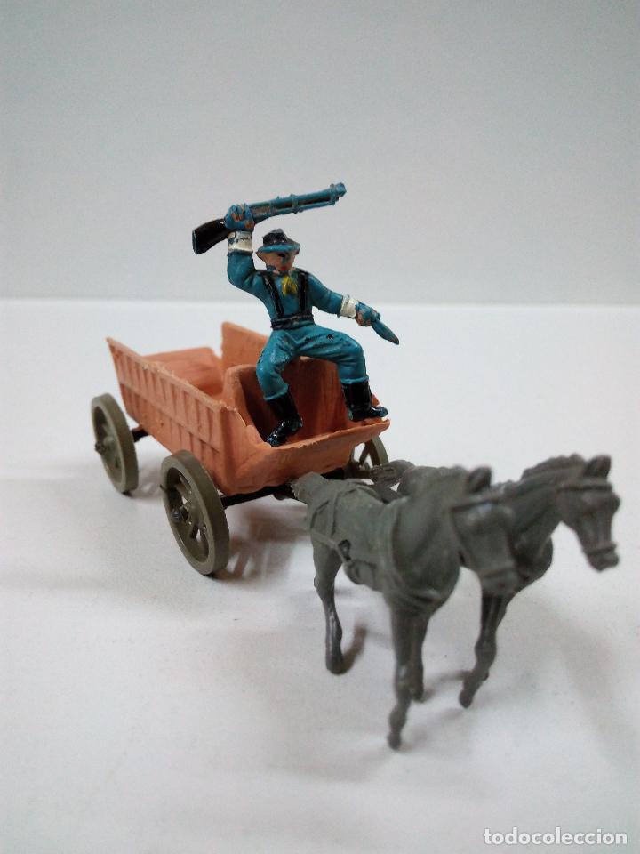 Figuras de Goma y PVC: SOLDADOS FEDERALES Y CARRETA . COMANSI . MINI OESTE - Foto 4 - 66769202