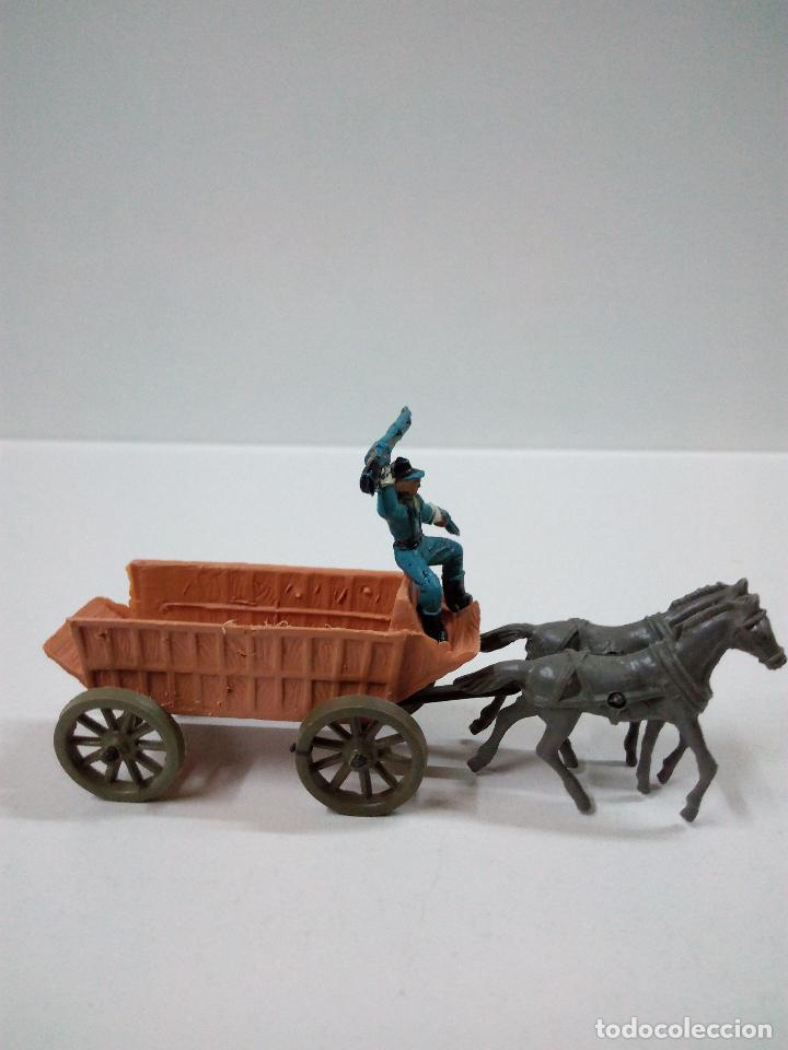 Figuras de Goma y PVC: SOLDADOS FEDERALES Y CARRETA . COMANSI . MINI OESTE - Foto 5 - 66769202