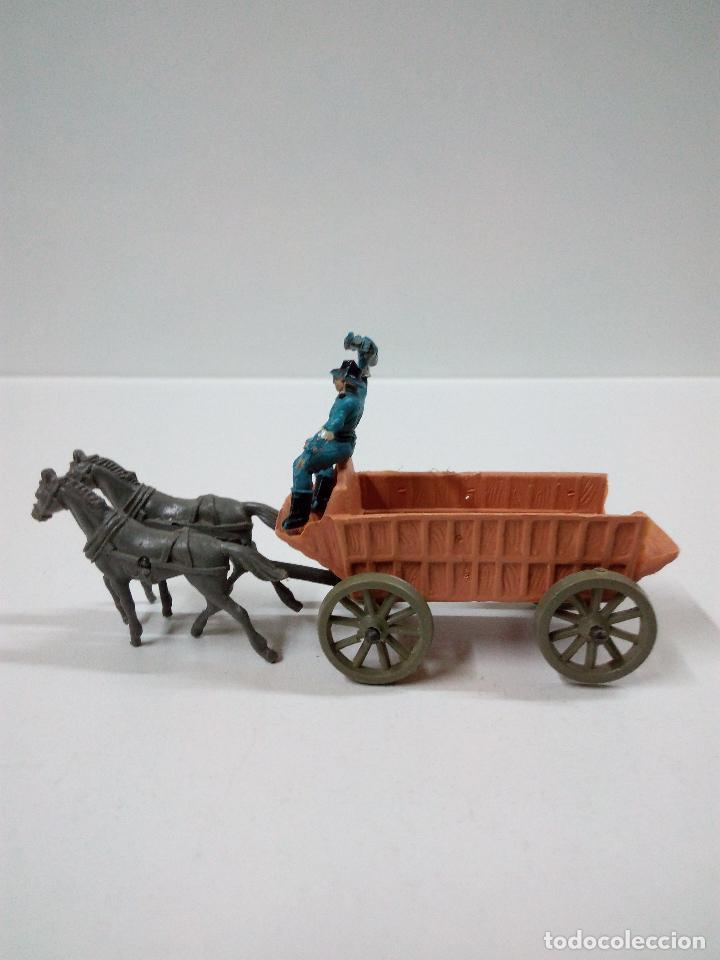 Figuras de Goma y PVC: SOLDADOS FEDERALES Y CARRETA . COMANSI . MINI OESTE - Foto 6 - 66769202