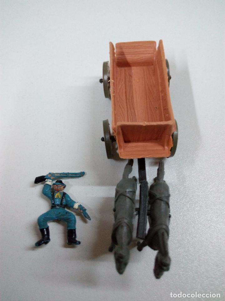 Figuras de Goma y PVC: SOLDADOS FEDERALES Y CARRETA . COMANSI . MINI OESTE - Foto 8 - 66769202