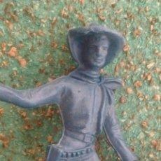 Figuras de Goma y PVC: ANTIGUA FIGURA DEL OESTE COMANSI. PISTOLERO LADRÓN DE BANCOS. PLÁSTICO. CANAL PIPERO.. Lote 66902733