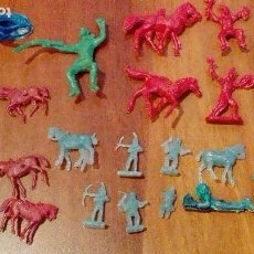 Figuras de Goma y PVC: VAQUEROS OESTE Y OTROS DE MONTAMAN-MONTAPLEX. Lote 66281038