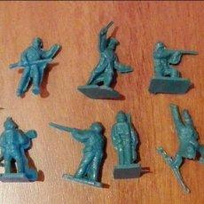 Figuras de Goma y PVC: 11 SOLDADOS GUERRA CIVIL AMERICANA.YANKEES-CONFEDERADOS. MONTAPLEX.AÑOS 70. Lote 66998570