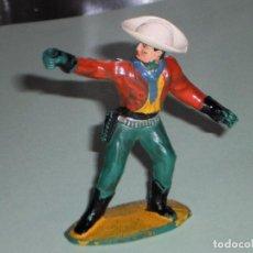 Figuras de Goma y PVC: FIGURA DE PLASTICO, COW BOY O VAQUERO - SOTORRES AÑOS 60 -. Lote 67094801