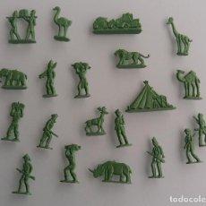 Figuras de Goma y PVC: ANTIGUO LOTE DE SERJAN SAKFARI SAFARI AFRICA AÑOS 60 EN MUY BUEN ESTADO. Lote 67124789