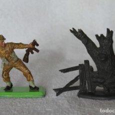 Figuras de Goma y PVC: SOLDADO INGLES BRITAINS LTD 1971 DEETAIL MADE IN ENGLAND BRITISH SOLDIER 2. Lote 67155385