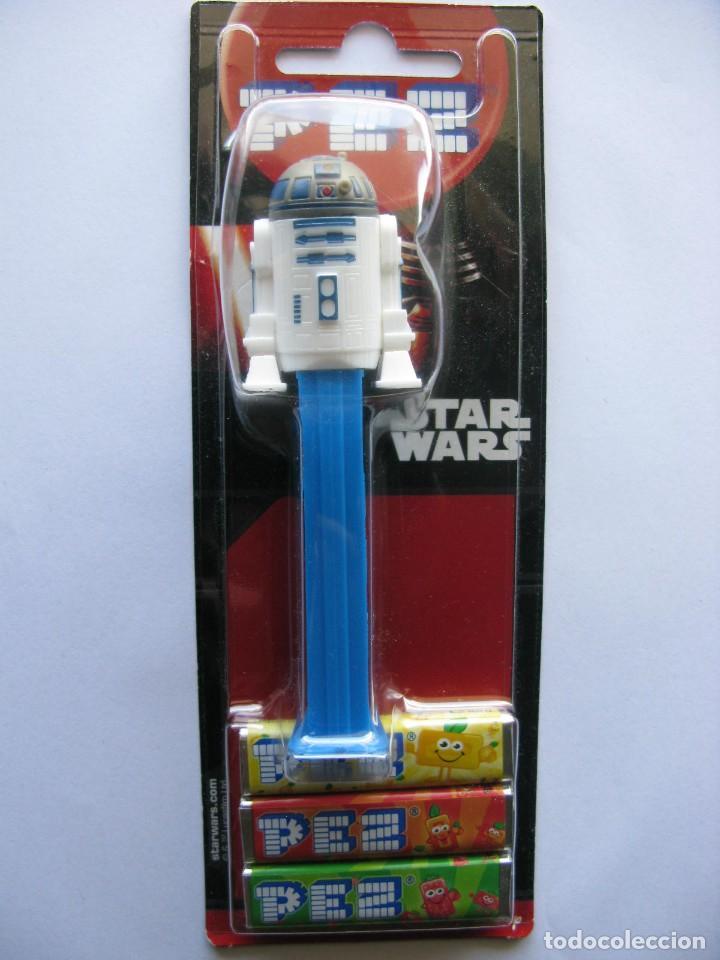 DISPENSADOR CARAMELOS PEZ. STAR WARS - R2 D2 (NUEVO SIN ABRIR) (Juguetes - Figuras de Gomas y Pvc - Dispensador Pez)