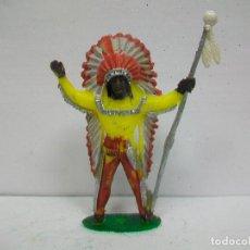 Figuras de Goma y PVC: FIGURA JEFE INDIO COMANSI - INDIO DE COMANSI. Lote 67212369