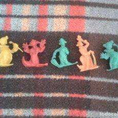 Figuras de Goma y PVC: ANTIGUO LOTE DE 5 FIGURAS MUÑECOS PLASTICO PAYASOS. Lote 67223065