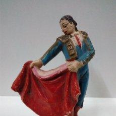 Figuras de Goma y PVC: PRECIOSO TORERO EFECTUANDO UN PASE NATURAL . TEIXIDO / JECSAN . AÑOS 50 EN GOMA. Lote 67288985