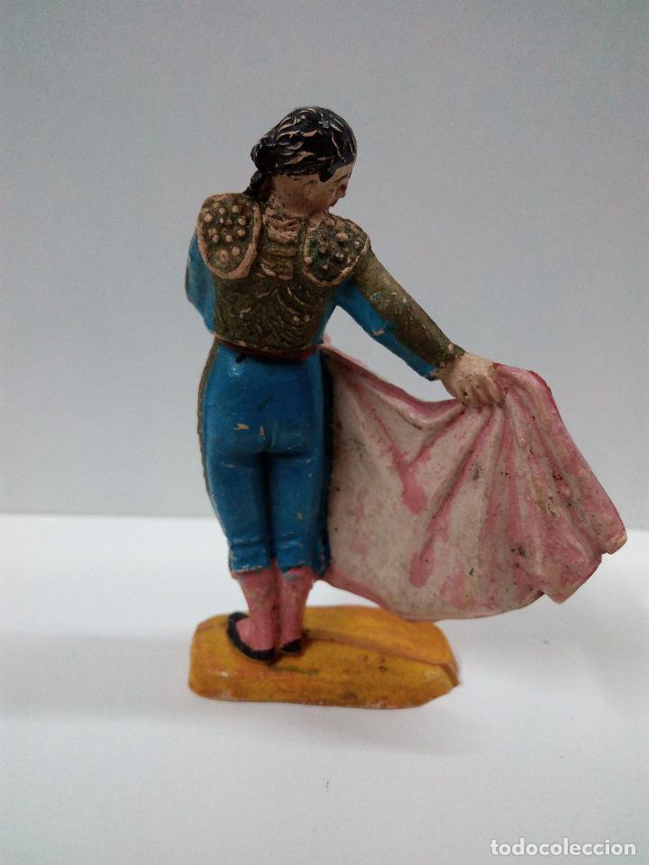 Figuras de Goma y PVC: PRECIOSO TORERO EFECTUANDO UN PASE NATURAL . TEIXIDO / JECSAN . AÑOS 50 EN GOMA - Foto 2 - 67288985