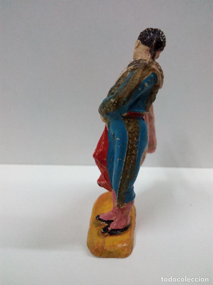 Figuras de Goma y PVC: PRECIOSO TORERO EFECTUANDO UN PASE NATURAL . TEIXIDO / JECSAN . AÑOS 50 EN GOMA - Foto 4 - 67288985