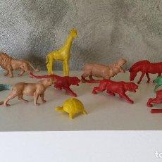 Figuras de Goma y PVC: ANTIGUOS ANIMALES PVC DETERGENTE PERLAN. Lote 67857761