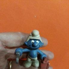Figuras de Goma y PVC: ANTIGUO PITUFO AÑOS 80 PEYO. TRABAJADOR. Lote 67955577