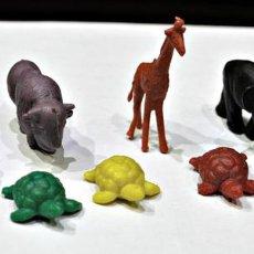 Figuras de Goma y PVC: LOTE DE 9 ANIMALES DE DUNKIN. AÑOS 70. Lote 68024789