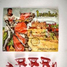 Figuras de Goma y PVC: MONTAPLEX SOBRE VACÍO Nª 139 IVANHOE + COLADA DE IVANHOE. Lote 183019870