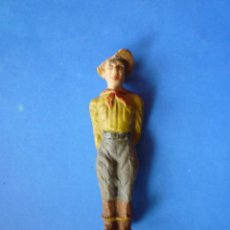 Figuras de Goma y PVC: FIGURA PRISIONERO OESTE ELASTOLIN AÑOS 50. Lote 68142713