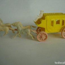 Figuras de Goma y PVC: RARA DILIGENCIA AÑOS 60 45MM. Lote 68247509