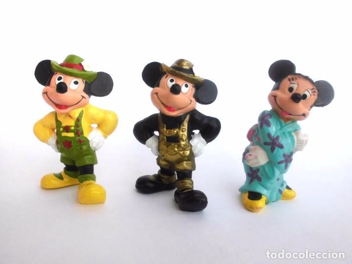 LOTE DE 3 ANTIGUAS FIGURAS EN GOMA PVC MICKEY Y MINNIE 1990 BULLY BULLYLAND DISNEY (Juguetes - Figuras de Goma y Pvc - Otras)