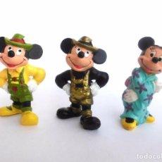 Figuras de Goma y PVC: LOTE DE 3 ANTIGUAS FIGURAS EN GOMA PVC MICKEY Y MINNIE 1990 BULLY BULLYLAND DISNEY. Lote 68268649