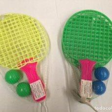 Figuras de Goma y PVC: JUEGO RAQUETAS PIN PON AÑOS 70. Lote 68279429