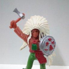 Figuras de Goma y PVC: JEFE INDIO . COMANSI. Lote 68386749